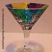 """Посуда ручной работы. Ярмарка Мастеров - ручная работа Бокалы для мартини """"Ночной Город"""". Handmade."""