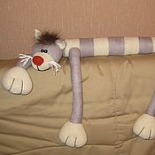 Куклы и игрушки ручной работы. Ярмарка Мастеров - ручная работа Большой вязаный полосатый кот. Handmade.