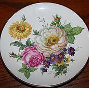 Винтаж handmade. Livemaster - original item Vintage, decorative plate with flowers, Ludwig Kamenz, Germany. Handmade.