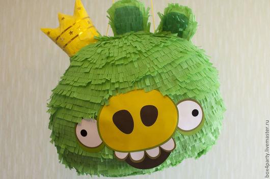 Праздничная атрибутика ручной работы. Ярмарка Мастеров - ручная работа. Купить Пиньята  «Angry Birds» Король свиней - гранд. Handmade.