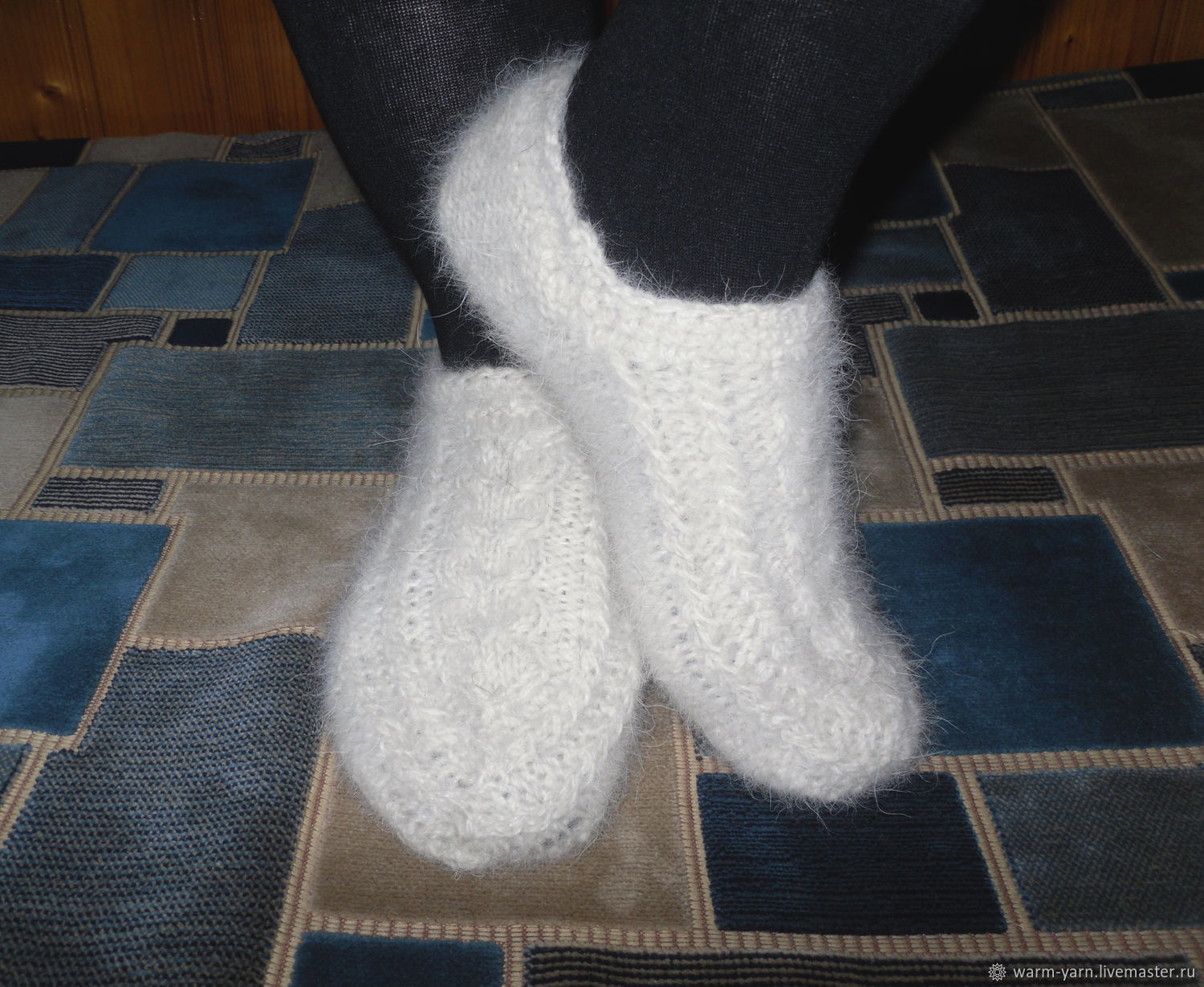 Women's knitted slippers Alaska, Socks, Klin,  Фото №1