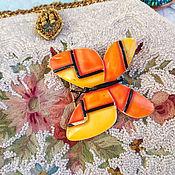 Броши винтажные ручной работы. Ярмарка Мастеров - ручная работа Винтажная  брошь – бабочка от Har. Handmade.