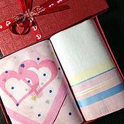 Подарки к праздникам ручной работы. Ярмарка Мастеров - ручная работа Носовые платочки женские Сердце вышивкой инициалов монограммы вензель. Handmade.