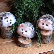Куклы и игрушки handmade. Livemaster - original item Hedgehogs miniature wool. Handmade.