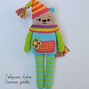 Куклы и игрушки handmade. Livemaster - original item Bear Mitya-toy with a Squeaker, crochet. Handmade.