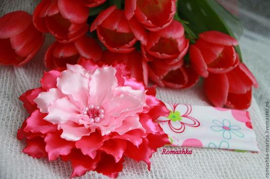 Фантазийный цветок на повязке.  Работа Покусаевой Марины (Romashka).  Ярмарка Мастеров.