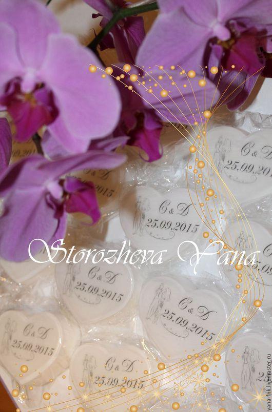 Подарки на свадьбу ручной работы. Ярмарка Мастеров - ручная работа. Купить Свадебное мыло, Комплимент гостям. Handmade. Белый, подарки