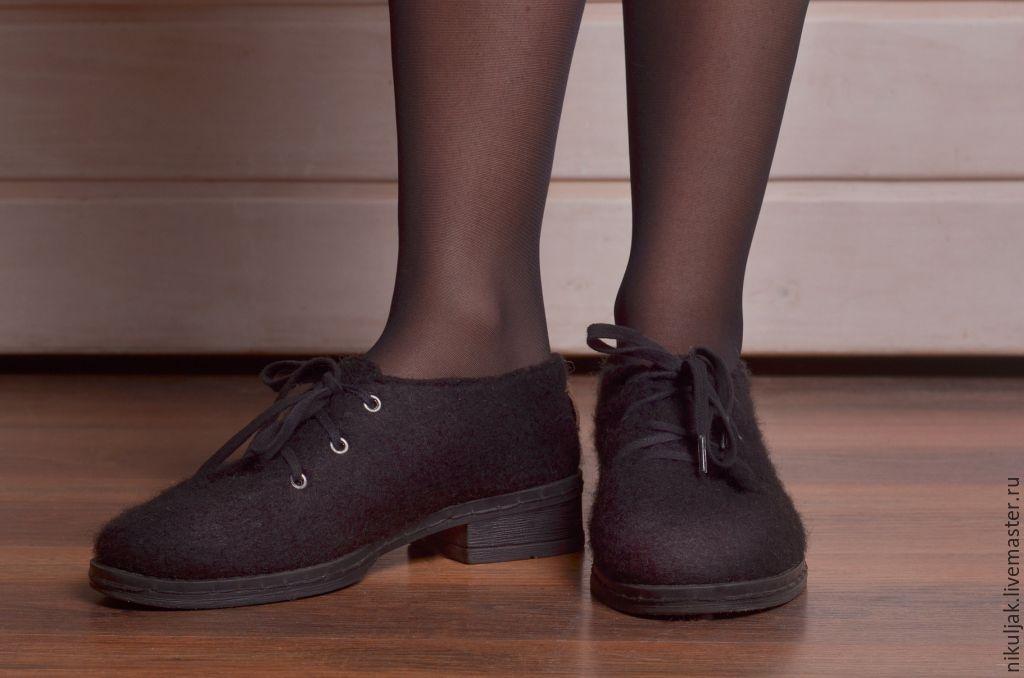 18bef23b5a174 Интернет-магазин · Обувь ручной работы. Заказать Туфли валяные Black.  Nora&Mia (Nikuljak). Ярмарка Мастеров ...