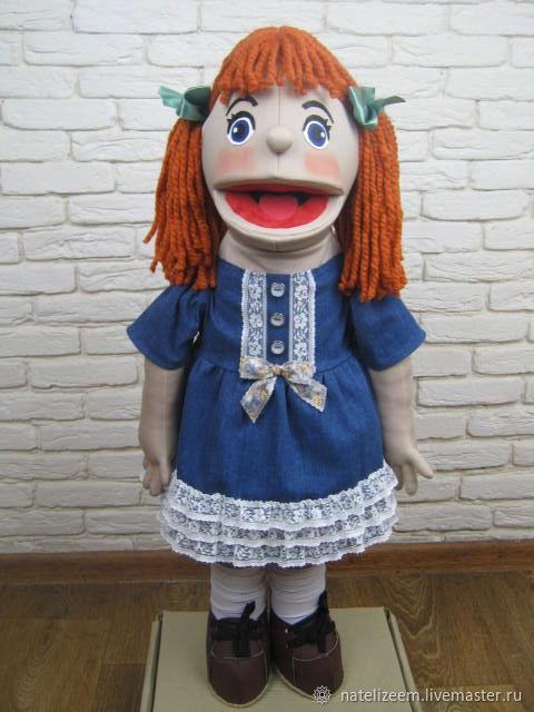 Матильда кукла на руку . с открывающимся ртом, Кукольный театр, Николаев,  Фото №1