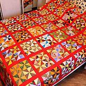 """Для дома и интерьера ручной работы. Ярмарка Мастеров - ручная работа Лоскутное одеяло """"Оклахома"""" № 442. Handmade."""