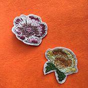Украшения ручной работы. Ярмарка Мастеров - ручная работа Брошь вышитая Цветок. Handmade.