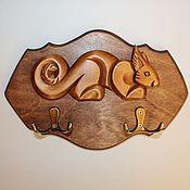 """Для дома и интерьера ручной работы. Ярмарка Мастеров - ручная работа Ключница """"Бельчонок"""". Handmade."""