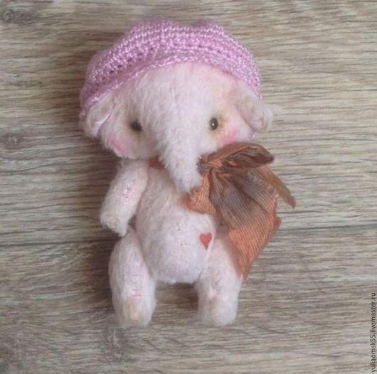 Мишки Тедди ручной работы. Ярмарка Мастеров - ручная работа. Купить Слоненок Тедди. Handmade. Бледно-розовый, друзья тедди