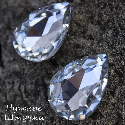Для украшений ручной работы. Ярмарка Мастеров - ручная работа. Купить Крупный кристалл капля в цапах № 1. Handmade.