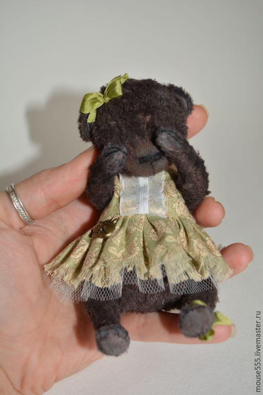 Мишки Тедди ручной работы. Ярмарка Мастеров - ручная работа. Купить Малышка Коко. Handmade. Коричневый, тедди, опилки, вискоза
