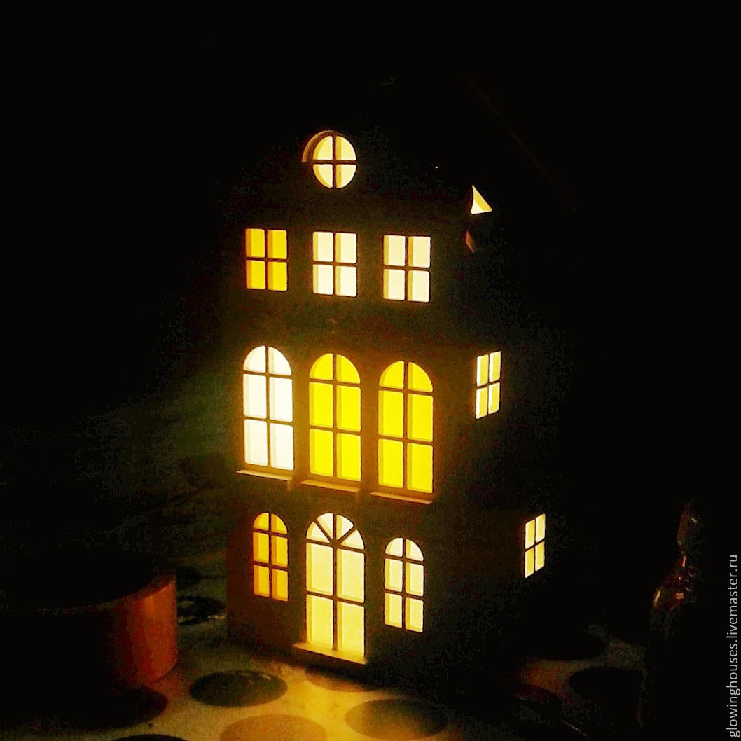 Lamps with night light - Red Lamp House Night Light Light House