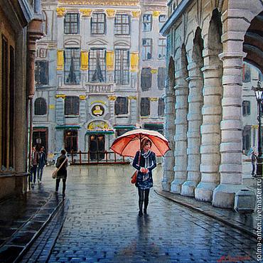 """Картины и панно ручной работы. Ярмарка Мастеров - ручная работа Акварель """" После дождя"""". Handmade."""