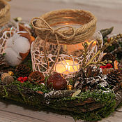 Свечи ручной работы. Ярмарка Мастеров - ручная работа Подсвечник на две свечи. Handmade.