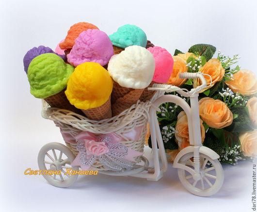 """Мыло ручной работы. Ярмарка Мастеров - ручная работа. Купить Мыло """"Рожок мороженого"""".. Handmade. Разноцветный, мыло для детей, сладкое"""