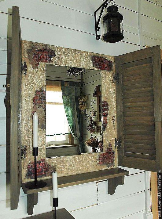 """Зеркала ручной работы. Ярмарка Мастеров - ручная работа. Купить Зеркало со ставнями  """"Старый город"""". Handmade. Мебель для дома"""