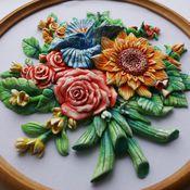 Картины и панно ручной работы. Ярмарка Мастеров - ручная работа Цветы. Handmade.