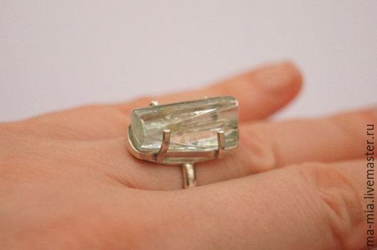 Кольца ручной работы. Ярмарка Мастеров - ручная работа. Купить кольцо Берилл 2. Handmade. Мятный, талисман амулет оберег