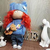 Тыквоголовка ручной работы. Ярмарка Мастеров - ручная работа Интерьерная кукла. Handmade.