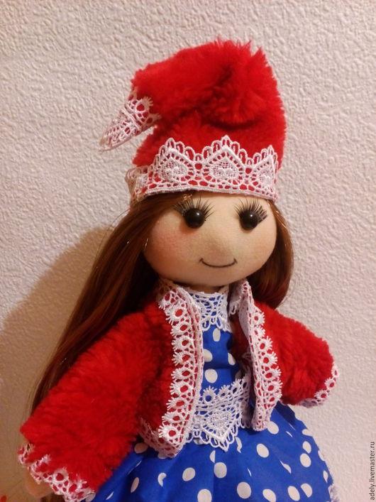 Коллекционные куклы ручной работы. Ярмарка Мастеров - ручная работа. Купить Интерьерная кукла Иришка. Handmade. Ярко-красный
