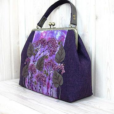 Bags and accessories handmade. Livemaster - original item Bag WARM EVENING VIOLET. Handmade.
