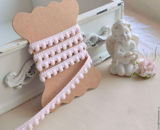Куклы и игрушки ручной работы. Ярмарка Мастеров - ручная работа. Купить Тесьма с мини-помпонами Л143-к розовая. Handmade.