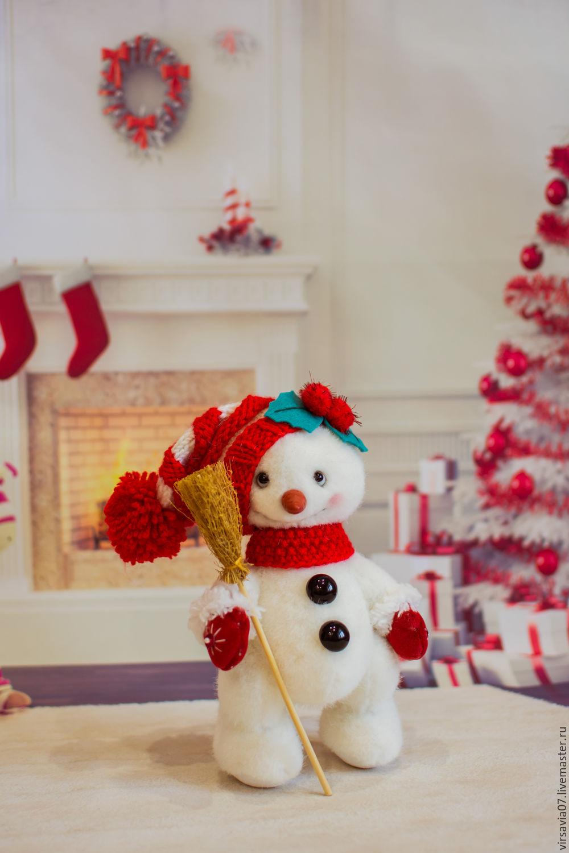 Мишки Тедди ручной работы. Ярмарка Мастеров - ручная работа. Купить Тедди- снеговик Жозеф. Handmade. Тедди, коллекционная игрушка