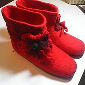 """Обувь ручной работы. Ярмарка Мастеров - ручная работа Сапожки """"Маки"""". Handmade."""