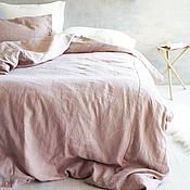 Для дома и интерьера handmade. Livemaster - original item Linen bed linen DUSTY ROSE-Elite natural linen. Handmade.