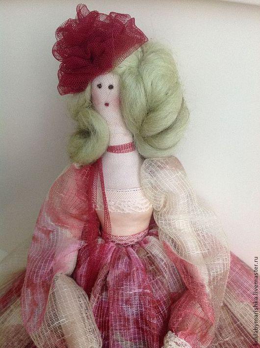 Коллекционные куклы ручной работы. Ярмарка Мастеров - ручная работа. Купить Розанна. Handmade. Бордовый, интерьерное украшение, английский хлопок