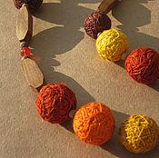 Украшения ручной работы. Ярмарка Мастеров - ручная работа Бусы оранжевое настроение. Handmade.