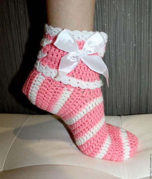 Носки, Чулки ручной работы. Ярмарка Мастеров - ручная работа. Купить Носки женские Нежность. Handmade. Розовый, носки вязаные