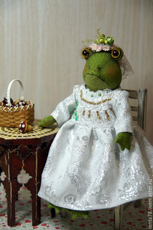 Игрушки животные, ручной работы. Ярмарка Мастеров - ручная работа. Купить Лягушка-невеста. Handmade. Разноцветный, текстильная кукла