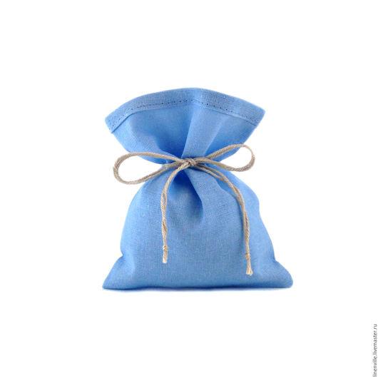 Свадебные аксессуары ручной работы. Ярмарка Мастеров - ручная работа. Купить Мешочки хлопковые, голубые. Handmade. Упаковка, упаковка для мыла