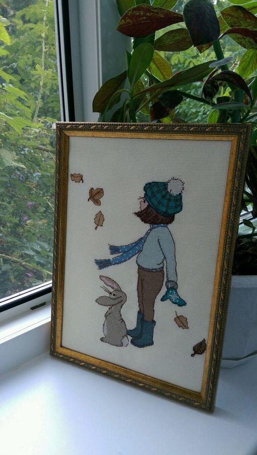 """Люди, ручной работы. Ярмарка Мастеров - ручная работа. Купить Вышитая картина """"Белль и Бу"""". Handmade. Вышивка"""