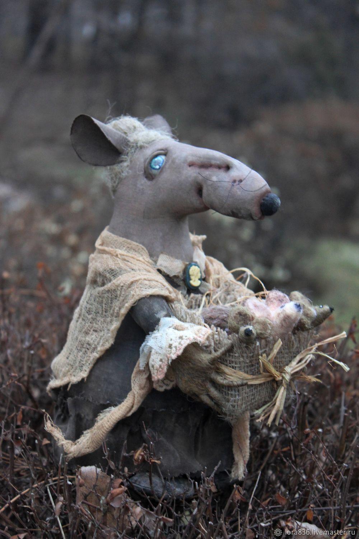 Granny rat. Collectible doll, Dolls, Volzhsky,  Фото №1