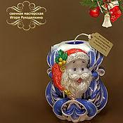 """Подарки к праздникам ручной работы. Ярмарка Мастеров - ручная работа Резная свеча """"Дед Мороз"""" высотой 12 см.. Handmade."""