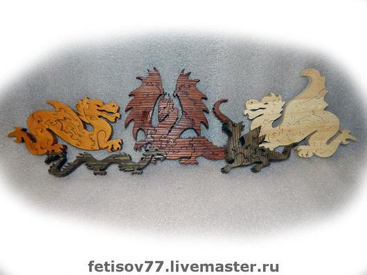 Игрушки животные, ручной работы. Ярмарка Мастеров - ручная работа. Купить Драконы пазлы. Handmade. Дракон, пазлы, Пазл, puzzle