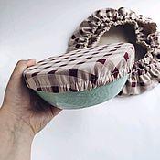 Наборы ручной работы. Ярмарка Мастеров - ручная работа Набор текстильных крышек для посуды из хлопка 3 шт. Handmade.