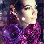 Украшения ручной работы. Ярмарка Мастеров - ручная работа брошь - заколка Ультрафиолет. Handmade.