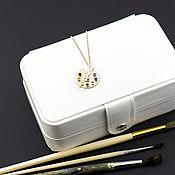 handmade. Livemaster - original item Pendant: Palette silver plated pendant with chain. Handmade.