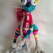 """Куклы и игрушки ручной работы. Ярмарка Мастеров - ручная работа Мастер класс по вязанию авторской игрушки """" котик Костя"""". Handmade."""