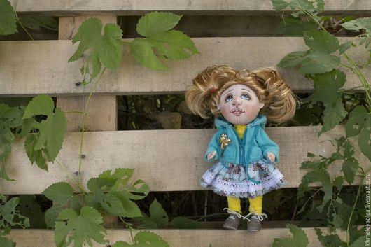 Коллекционные куклы ручной работы. Ярмарка Мастеров - ручная работа. Купить Малышка Машенька. Handmade. Тёмно-бирюзовый, игрушки детям