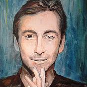Картины и панно ручной работы. Ярмарка Мастеров - ручная работа Портрет мужчины по фотографии (портрет с фотографии). Handmade.
