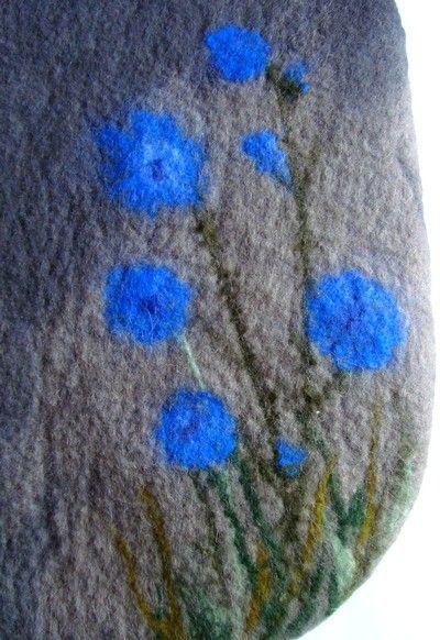 """Женские сумки ручной работы. Ярмарка Мастеров - ручная работа. Купить сумка """"цикорий"""". Handmade. Сумка, цветы, синие цветы"""