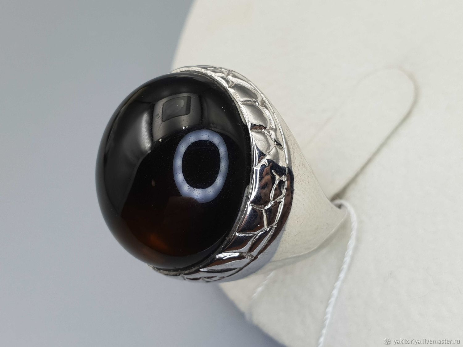 Silver ring with rauchtopaz 21 mm, Rings, Moscow,  Фото №1